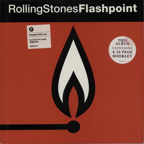 Rolling Stones Flashpoint - Cover stickers vinyl LP album (LP record) UK ROLLPFL575427