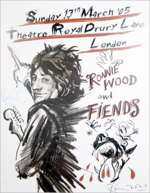 Ronnie Wood Ronnie Wood And Fiends - Autographed poster UK RNWPORO455640