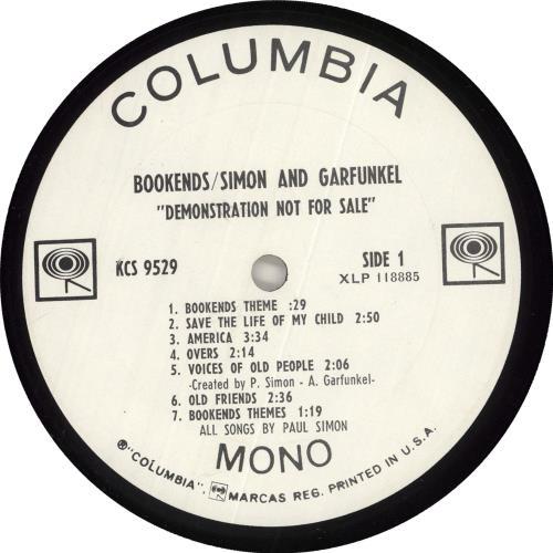 Simon & Garfunkel Bookends + Poster - Mono vinyl LP album (LP record) US SGFLPBO737087