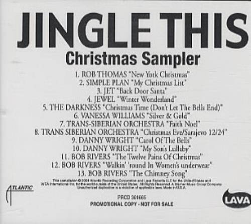 Simple Plan My Christmas List US Promo CD album (CDLP
