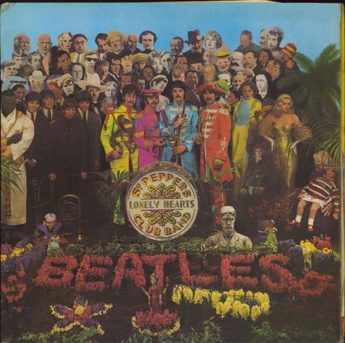 The Beatles Sgt. Pepper's - Wide Spine - Complete - EX vinyl LP album (LP record) UK BTLLPSG693208