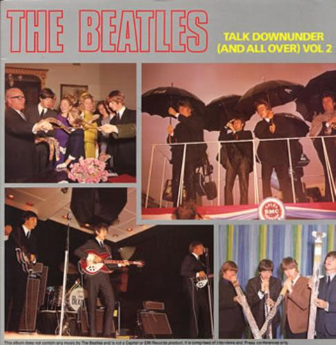 The Beatles Talk Downunder (And All Over) Vol 2 vinyl LP album (LP record) Australian BTLLPTA309957
