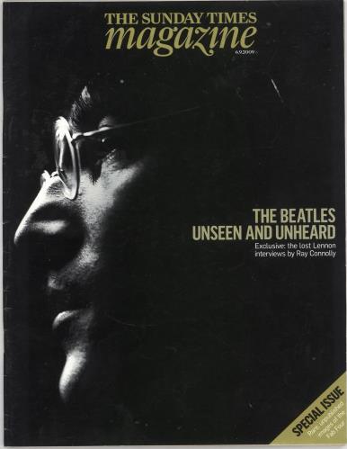 The Beatles The Sunday Times Magazine - September 2009 memorabilia UK BTLMMTH733739