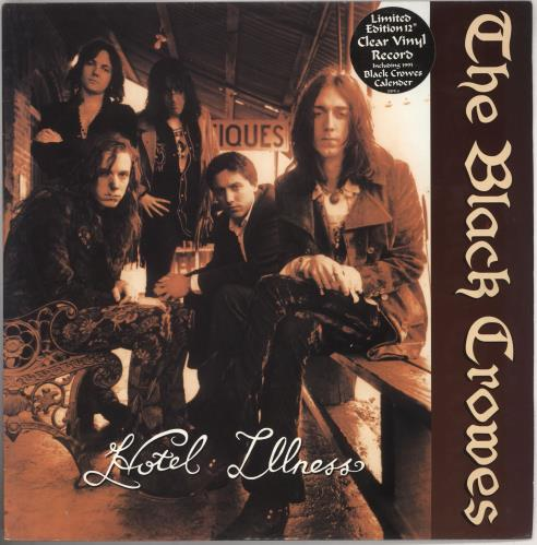 "The Black Crowes Hotel Illness - Clear Vinyl + calendar card 12"" vinyl single (12 inch record / Maxi-single) UK CRW12HO11369"