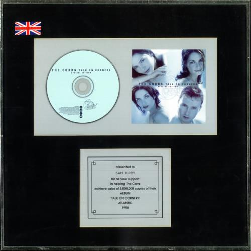 The Corrs Talk On Corners - Special Edition in-house award disc UK ORRAITA336674