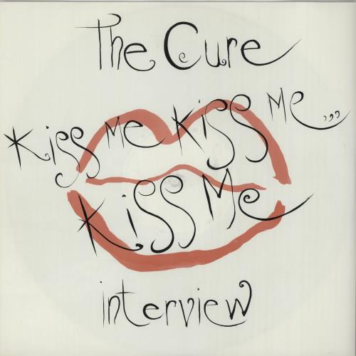 The Cure Kiss Me Kiss Me Kiss Me Interview vinyl LP album (LP record) UK CURLPKI08488
