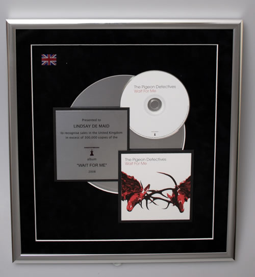 The Pigeon Detectives Wait For Me in-house award disc UK TQ1AIWA571763