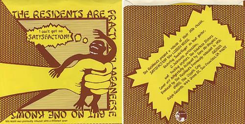 "The Residents Satisfaction - Gold Vinyl 7"" vinyl single (7 inch record) US RSD07SA336160"