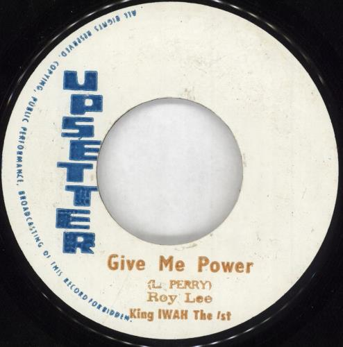 """The Upsetters Give Me Power/ The Tackro 7"""" vinyl single (7 inch record) Jamaican TB807GI731960"""