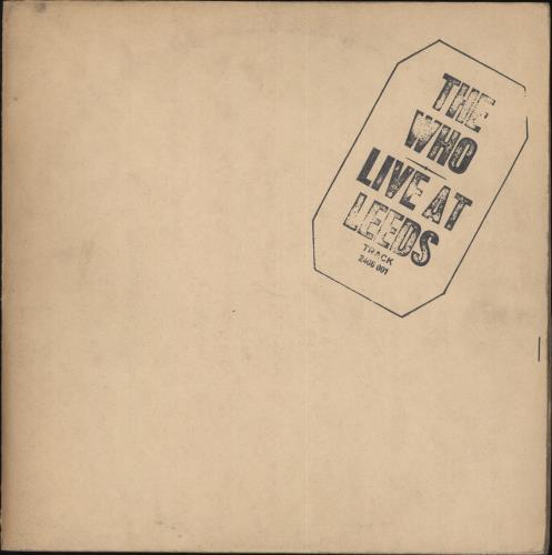 The Who Live At Leeds - Black Text 1st vinyl LP album (LP record) UK WHOLPLI684669
