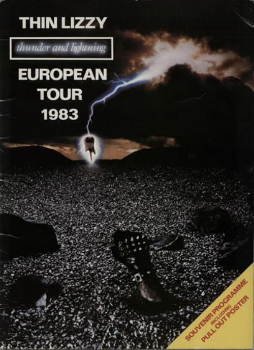 Thin Lizzy Thunder & Lightning tour programme UK THITRTH184807