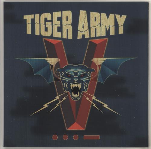 Tiger Army V...- - Red and Aqua Splatter vinyl LP album (LP record) UK TQ8LPVR735259
