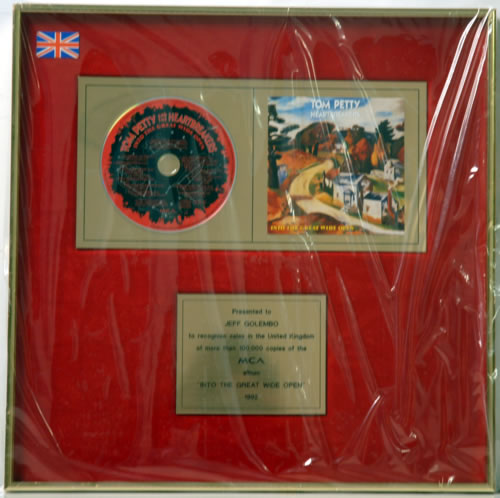 Tom Petty & The Heartbreakers Into The Great Wide Open award disc UK PETAWIN608834
