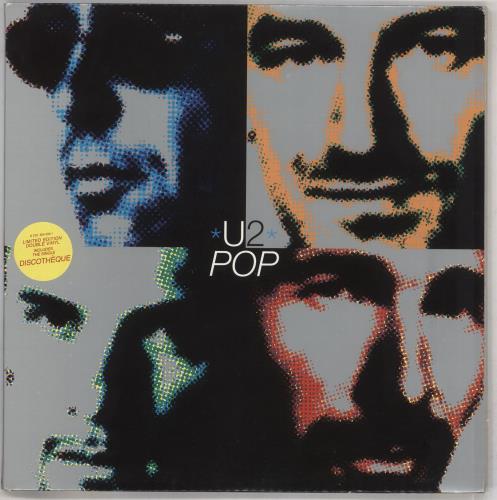 U2 Pop - EX 2-LP vinyl record set (Double Album) UK U-22LPO540809