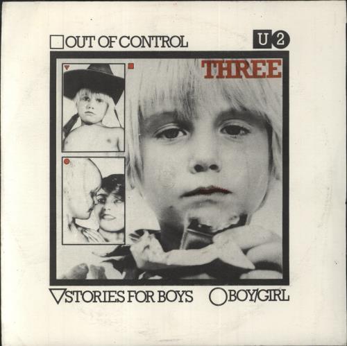 "U2 Three EP - 1st issue + 2nd sleeve variant 7"" vinyl single (7 inch record) Irish U-207TH376276"