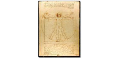 Hombre de Vitrubio' Leonardo da Vinci.