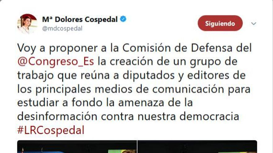 Captura de la noticia del portal Europrensa.