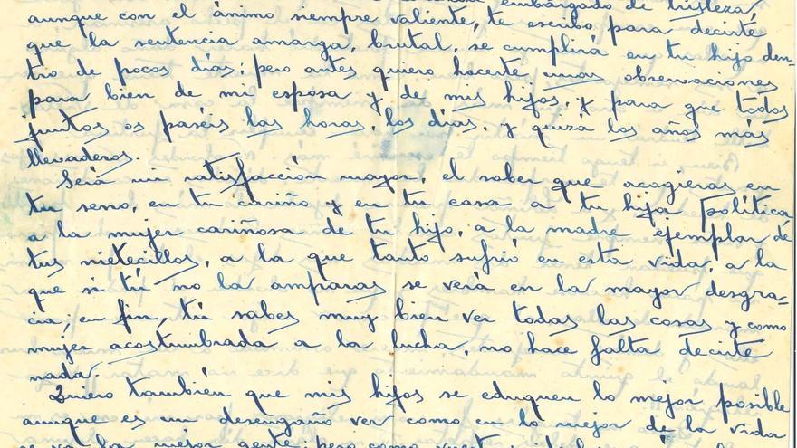 Carta de Daniel Álvarez Carnero a su madre Catalina