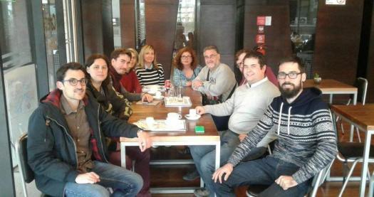Miembros de la Comisión por la Memoria del Exilio Republicano en Chile.