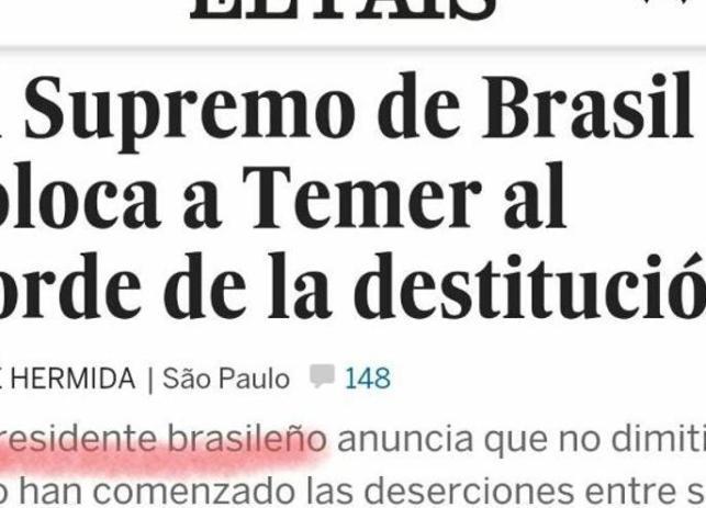 El País Temer