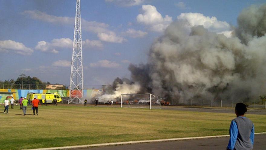 Incendio pista olímpica. Foto: Prensa Gobernación del Estado Bolívar