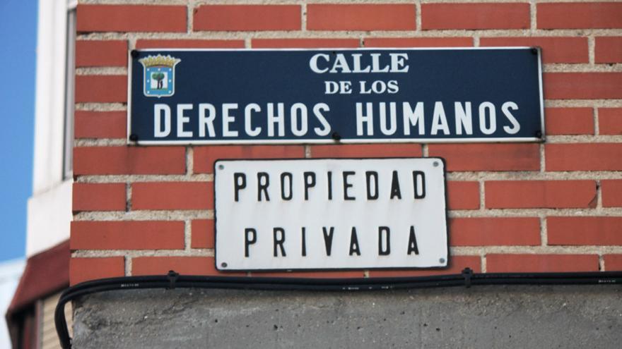 Calle de los Derechos Humanos/Propiedad Privada