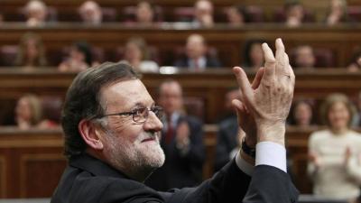 El presidente en funciones, Mariano Rajoy, en la sesión de investidura del 4 de marzo de 2016.