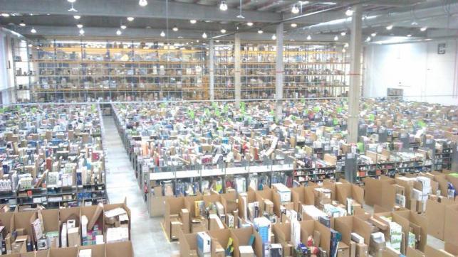 Almacén de Amazon en Madrid