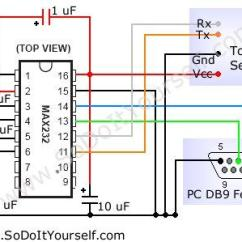 Usb To Serial Port Wiring Diagram Ford 8n Front Mount Max3232 Circuit Problem