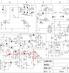 re dc to ac inverter h bridge here s the schematic  [ 1679 x 1160 Pixel ]