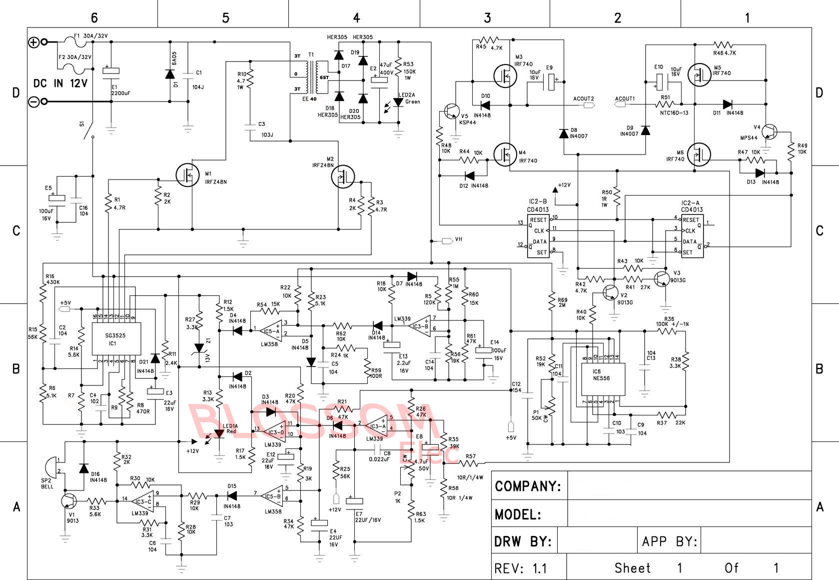 hight resolution of re dc to ac inverter h bridge here s the schematic