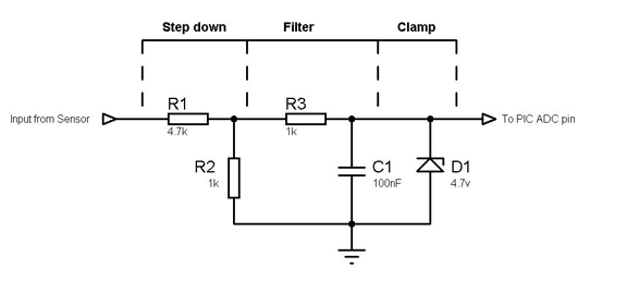 using QTR-1A reflectance sensor with PIC16F877