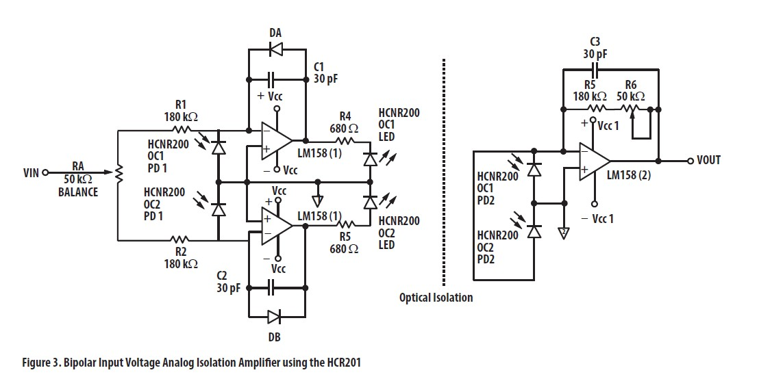 Help me about circuit HCNR200 to 220 VAC