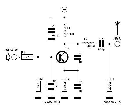 ads transmitter circuit simulation problem