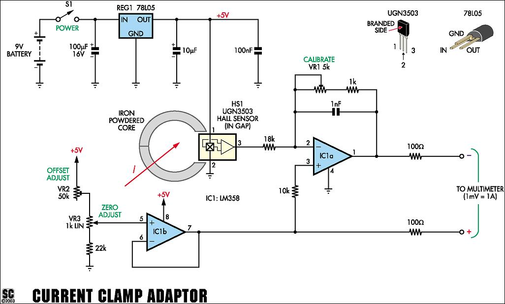 hallsensor current monitor schematic