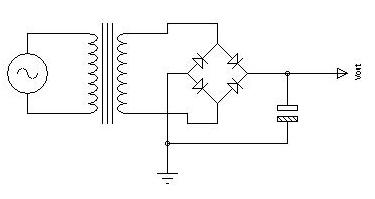 simple converter circuit 220V AC to 15 V DC