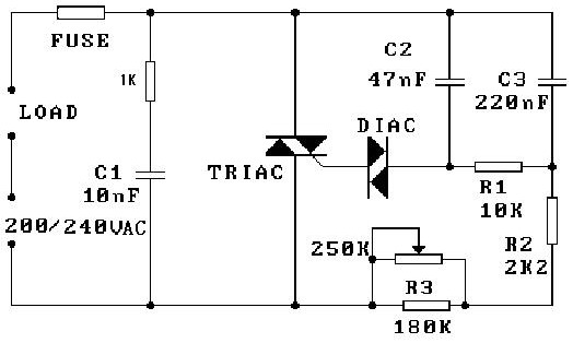 TRIAC in Light Dimmer cct with snubber blows with motor use