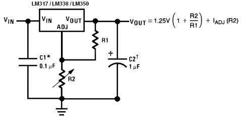 19v dc regulation circuit diagram