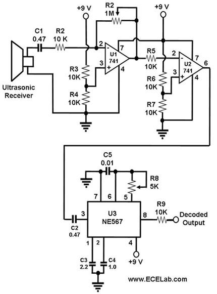 designing an ultrasonic reciever