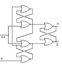 GaAs gated Flip-Flop D-Type
