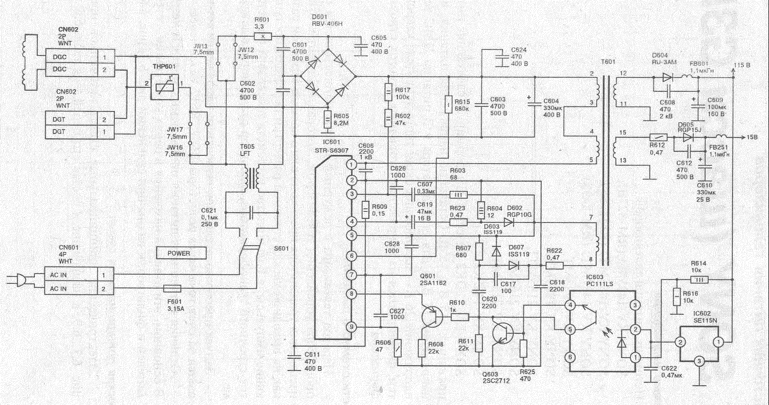 panasonic crt tv circuit diagram