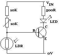 Help needed with darkness sensor circuit