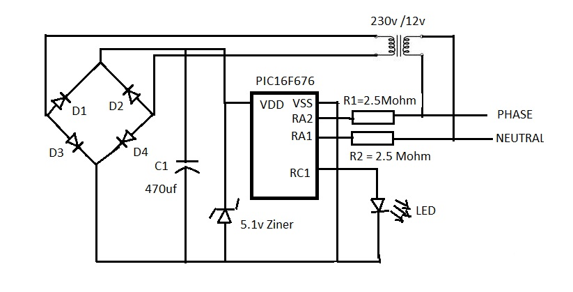 [SOLVED] Related to Pin connection for AC detection on PIC