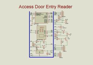 Smart card reader for access door