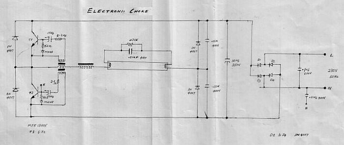 Design of the Fluorescent Lamp Ballast circuit