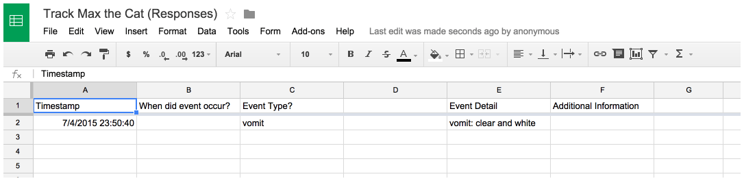 I re-check the form response Google Sheet