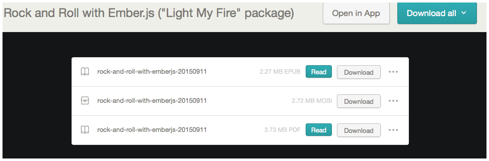 """Bought """"Rock and Roll with Ember.js"""""""