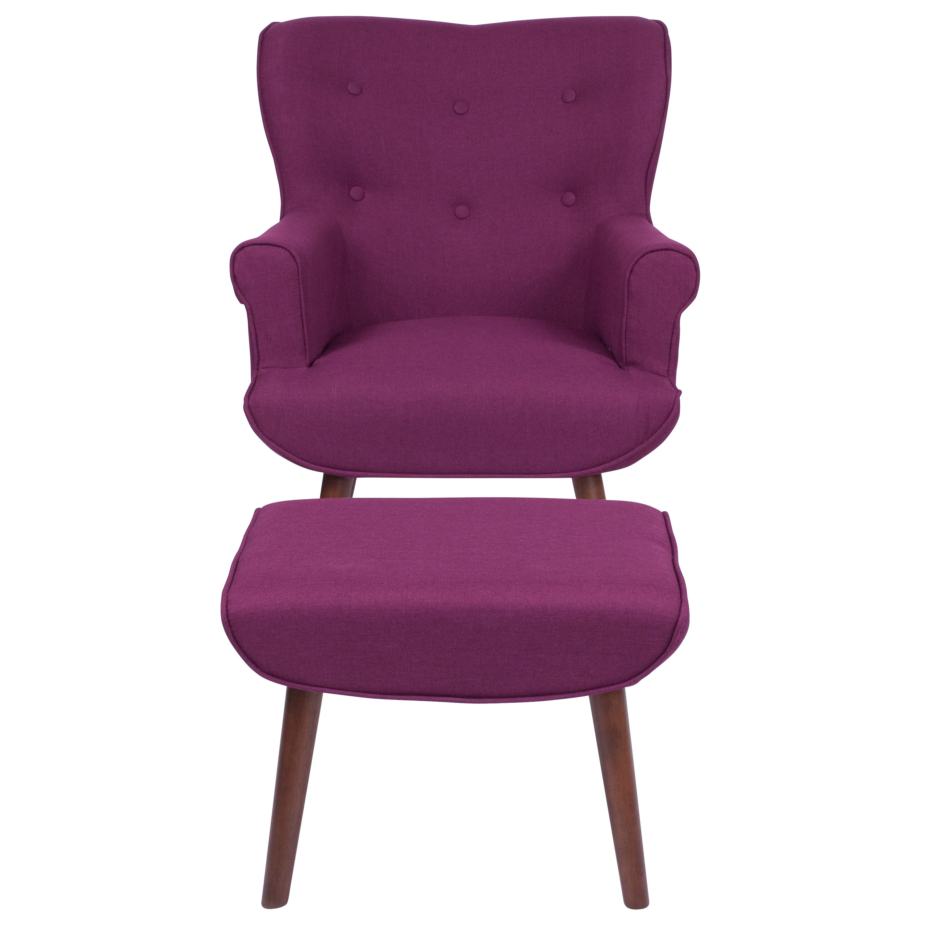 Upholstered Wingback Chair with Ottoman  eBay