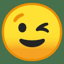 Image result for wink emoji