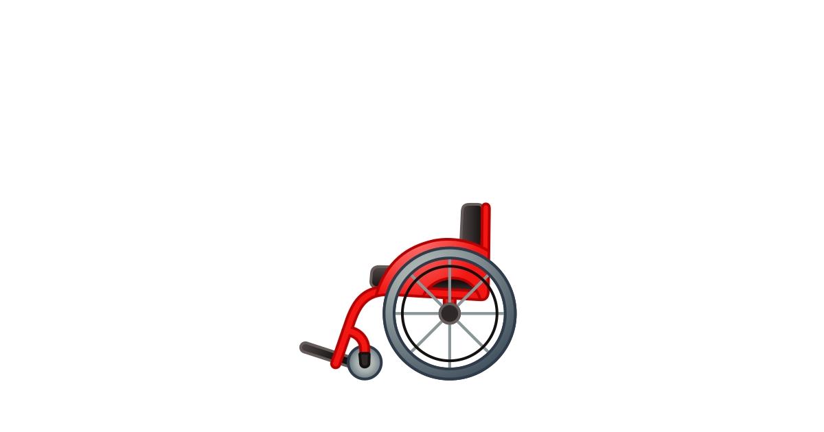 Fauteuil Roulant Manuel Emoji